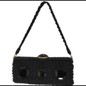 Authentic Valentino Crochet Jeweled Evening Bag